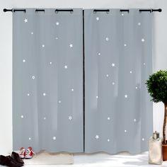 cette paire de rideaux toiles de couleur grise habillera merveille la chambre de votre enfant