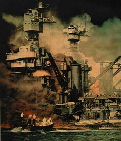 Pearl Harbor - December 7. 1941 (Vintage Old Fashion B&W) #1A