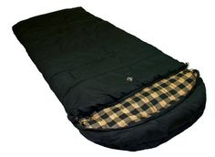 Ledge Sports Outfitter F Degree XL Oversize Flannel Lined Sleeping Bag (Black, 90 X Camping Essentials, Camping Gear, Outdoor Camping, Mummy Sleeping Bag, Sleeping Bags, Oversized Flannel, Stay Warm, Cold Weather, Plush