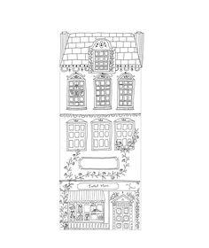 Illustration by Ryn Frank City Sketch, House Sketch, Pen Sketch, House Drawing, Building Illustration, House Illustration, Ink Illustrations, Face Illustration, Illustration Styles