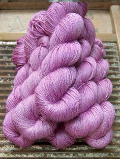 BFL / Silk Superwash fingering yarn- ISLINGTON...'Lotus' - purple pink by KettleYarnCo on Etsy