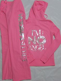 Victoria's Secret PINK Hoodie & Boyfriend Pants Set have and love have this love it :)