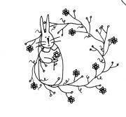 Free Bunny Stitchery pattern