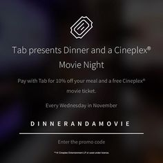 Every Wednesday of November eat at Little Sister, Trattoria Nervosa, Thoroughbred Food & Drink, and Brassaii, to get off your bill & a ticket Movie Tickets, Thoroughbred, Little Sisters, Wednesday, November, How To Get, Entertaining, Drink, Eat