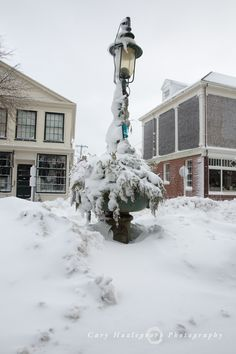Winter Storm Juno, a powerful nor'easter, slammed Nantucket with heavy snow and strong winds on Tuesday, January 27, 2015.  It caused blackouts of the entire island while    high tides caused serious erosion and flooding. This is Main Street in the aftermath of Juno.