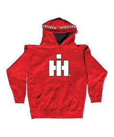 Case IH International Harvester Youth Black Hoodie Size L and XL