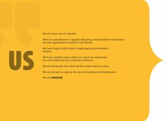 We are a 9 year young #Brand Ideation and Creation company. We are not just an agency but your advertising and branding arm. We are #InHouse Advertising & Branding
