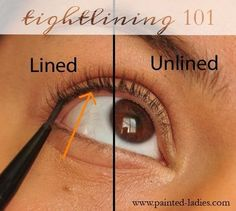 Tightlining 101 - #howtotightline #tightline #eyemakeup #eyeliner #paintedladies - Love beauty? Go to bellashoot.com for beauty inspiration!