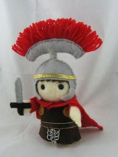 Roman soldier, felt, DeriDolls