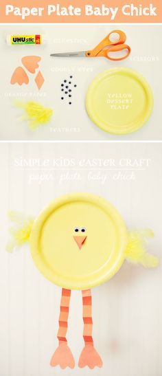 Paper Plate Baby Chick | Easter Crafts