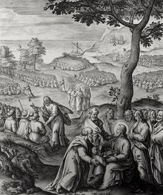 Christ's earthly ministry in the Phillip Medhurst Bible 107 of 550 Jesus feeds the multitude Mark 6:38-44 Passeri on Flickr. A print from the Phillip Medhurst Collection at St. George's Court, Kidderminster.