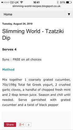 Slimming world Tzatziki dip