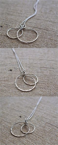This beautiful sterling silver raindrop necklace is a perfect piece to wear everyday or with an elegant outfit on a night out. Simple yet striking. | Made on Hatch.co by independent makers & designers who care.