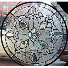 Stained Glass Window Panel 18'' X 18'' Round {9037-58}