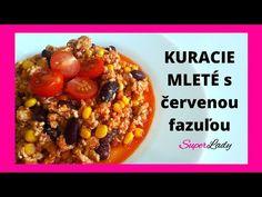 Kuracie mleté s červenou fazuľou/vysoko bielkovinové jedlo - YouTube Oatmeal, Beans, Vegetables, Breakfast, Youtube, Food, The Oatmeal, Morning Coffee, Rolled Oats