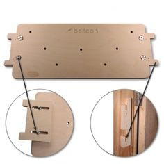 Fingerboard Doorway Mounting System - Neat doorway mounting system fits most climbing fingerboards and allows instant slide in/slide out mounting