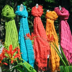 Printed scarfs by Relique
