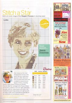 sandylandya@outlook.es  Princess Diana Cross Stitch Chart