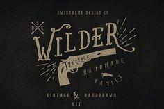 Wilder Family & Handdrawn Kit by Swistblnk Design Std. on @creativemarket