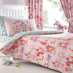 Bluezoo Kids' Pink 'Castle And Unicorns' Duvet Cover And ... https://www.amazon.co.uk/dp/B00TA6RL52/ref=cm_sw_r_pi_dp_x_a4MdybYNDEWST
