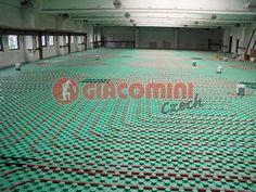 Podlahová topná soustava v průmyslových objektech