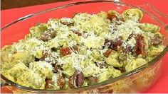 Having a cookout for July 4th? Spruce up your pasta salad with this cheese tortellini salad with basil pesto.