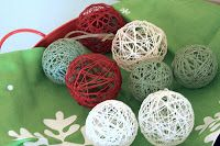 String balls for Christmas tree ornaments