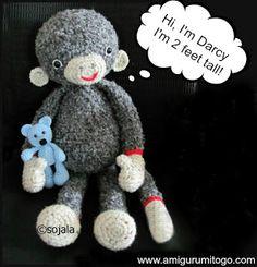 Darcy the Monkey free pattern by Amigurumi To Go
