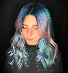 🌄🌄🌄 One of my models in Austin for @kenraprofessional...all diluted Neons used to create these tones. I can't wait for the 2017 show/education schedule to kick in....I'M READY damnit 👊🏼 #haircolor #hairstyle #neonhair #pastelhair #hair #colorfulhair #education