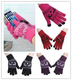 Unisex Touch Screen Texting Knit Stretchy Gloves Mittens for Smartphone Tablet