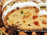 Candied Fruit Donut Recipe – Food and Recipes - Obstkuchen Donut Recipes, Baking Recipes, Cake Recipes, German Christmas Food, Christmas Baking, Food Cakes, Stollen Recipe, German Bakery, Holiday Bread
