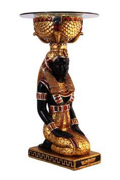 Kneeling Egyptian Goddess Statue. REPRODUCTION FURNITURETHE ...