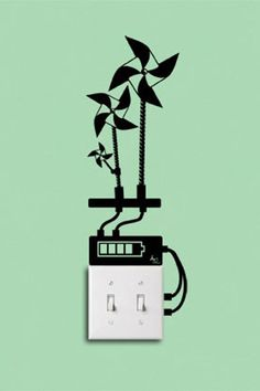 """Wall stickers """"eco-reminders"""""""