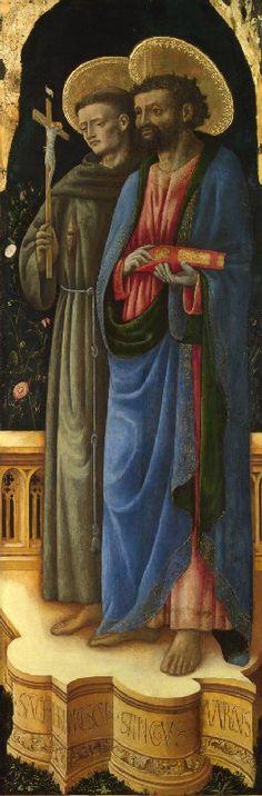 Antonio Vivarini e Giovanni d'Alemagna - Santi Francesco e Marco - circa 1440-1446 - National Gallery, London