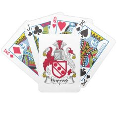 Heywood Family Crest Bicycle Poker Deck