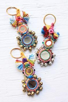 Boho Bazaar Keyring - Large // handmade, fair trade // Habitation Co.