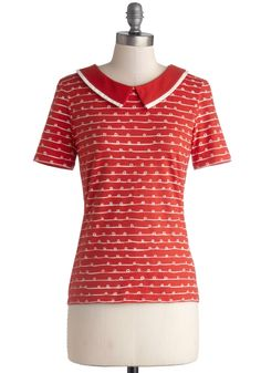 Arches, Loops, and Whorls Top. Youve long been fascinated with the idiosyncrasies of the human body - so your success as a fingerprint analyst was natural. #red #modcloth