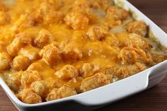 Tater Tot Casserole (**Decided to take a gamble on this one and give it a shot.  Really easy to put together and not bad for a quick Monday night dinner!  Easy/cheap ingredients too!)