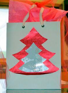 Turn shopping bag into gift bag!