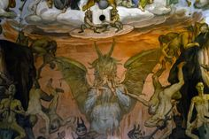 Giorgio Vasari & Frederico Zuccaro, Giudizio Universale - Inferno (The Last Judgment - Hell), 16th century.  Detail of the fresco covering the interior of the dome of the Cathedral of Santa Maria del Fiore, Florence, Italy | chapter 45