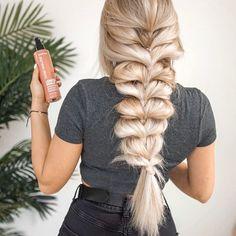 Half Updo Hairstyles, Headband Hairstyles, Hair Looks, Hair Inspo, Ideias Fashion, Hair Makeup, Braids, Hair Beauty, Hair Color