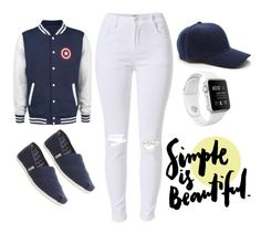 """""""Simple Is Beautiful."""" by rachellparis ❤ liked on Polyvore featuring TOMS"""