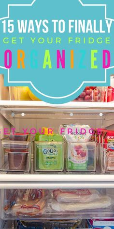These organizing hacks are THE BEST! I am so happy I found these GREAT organizing ideas and tips! Now I have great ways to organize my home on a budget. So pinning!#organize #clean #diy #fridge