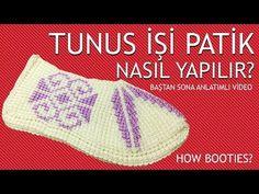 Tunus İşi Patik Yapılışı Videolu Anlatım - Canım Anne - Yemek Tarifleri, Lif Modelleri, İğne Oyası