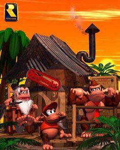 Cranky, Diddy, and Donkey Kong Vintage Video Games, Retro Video Games, Video Game Art, Retro Games, Super Nintendo, Nintendo Games, Metroid, Super Mario, Still Game