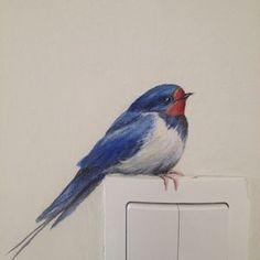56 ideas for exterior wall art ideas paint Mural Art, Wall Art, Painted Wall Murals, Painted Birds, Tiny House Family, Bird Art, Wall Design, Painted Furniture, Street Art