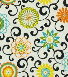 Home Decor Print Fabric-Waverly Pom Pom Play Confetti Piano bench???