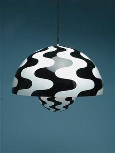 "Ceiling lamp ""Flowerpot"" Designed by Verner Panton-for Louis Poulsen 1960's."