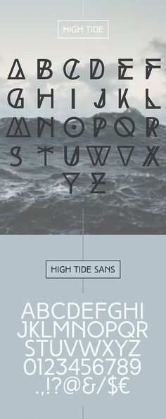 High Tide – unique free font family of three completely different weights – Regular, Bold and Original.