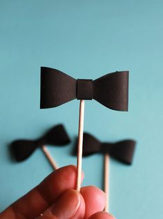 Bow Tie Cupcake Topper Craft, party supplies, party favors, party decor